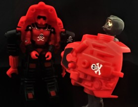 Black Major Red Shadows Eel and SNAKE Armor - Surveillance Port 25