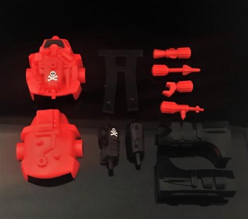 Black Major Red Shadows Eel and SNAKE Armor - Surveillance Port 39